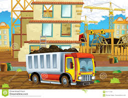 100 Truck Loader Cartoon Scene Of A Construction Site With Heavy