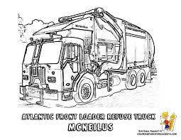 Grimy Garbage Truck Coloring Page