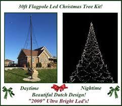 Telescoping Flagpole Christmas Tree