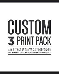 Items Similar To Custom Three Print Pack