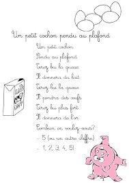 Comptine Un Petit Cochon Pendu Au Plafond Paroles Illustrées Un