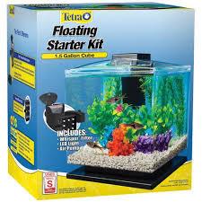 Spongebob Aquarium Decorating Kit by Tetra Aquarium Cube Tank 1 5 Gal Walmart Com