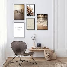 deko wandbilder mit blumen garten thema fürs wohnzimmer