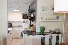 Kitchen Attractive Ideas For Small Apartment Kitchens Decoration With White Cabinet Also Gold Knobs Plus