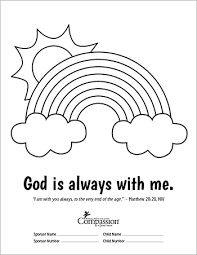God Is Always With Me Coloring Sheet