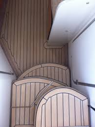 Runnen Floor Decking Outdoor Brown Stained by Marine Services On Interior Boat Flooring Yacht Carpentry