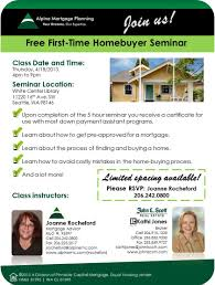 FREE First Time Homebuyer Seminar Will Be Thursday April 18