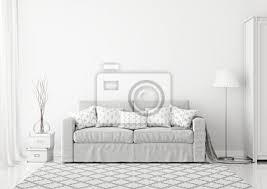 gemütliche skandinavischen stil wohnzimmer innenraum mit grauen bilder myloview