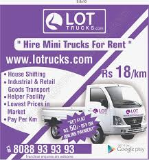 Book Mini Truck For Rent Online Bangalore In - Jayanagar | Bangalore ...