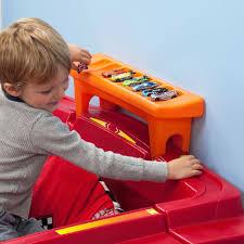 step2 blue wheels toddler race car bed and dresser value