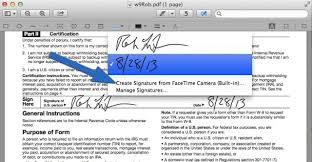 How To Sign A PDF Form On Your Mac Without Printing It OS X Tips