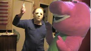 Who Played Michael Myers In Halloween by Halloween Michael Myers Vs Barney The Dinosaur Youtube