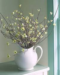 Interior Decorating With Flowering Branches In Vases And Decorative Urns