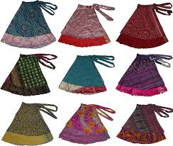 amazon com short size two layer reversible wrap around art skirts