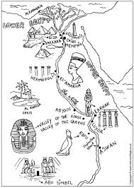 Ancient Egypt Map Colouring Page