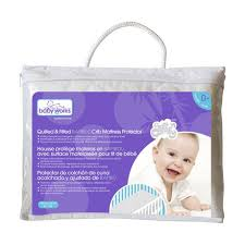 baby works quilted fitted bamboo crib mattress protector