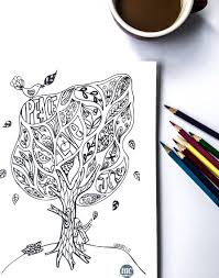 Bear Good Fruit Adult Colouring Page