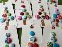 déco de noël bricolage noël enfants sapins boutons bricolage
