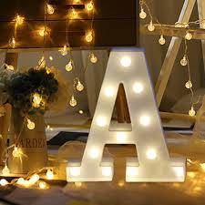 Alphabet Letter Lights Led Light Up White Wooden Letters Standing