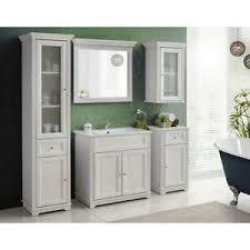 details zu badezimmer möbel komplett set badschänke 80cm keramik waschtisch bad spiegel
