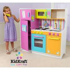 cuisine bois kidkraft grande cuisine dinette enfant de luxe en bois kidkraft maison