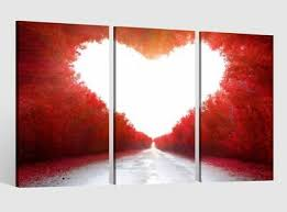 leinwandbild 3 tlg liebe herz schlafzimmer leinwand bilder