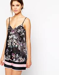 dark floral cami top fashion ladies summer tops backless floral