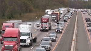 100 Stuck Trucks Video Tractor Trailer Trucks Stuck In Epic Highway Traffic Jam And