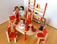 holzspielzeug puppenmöbel familie baby ebay