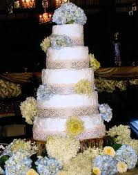 Vintage Wedding Cake White Rustic Buttercream Lace Over