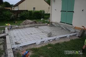 faire une dalle exterieur les travaux de la terrasse se poursuivent maison et domotique