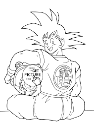 Gohan Coloring Pages Dragon Ball Anime Goku And For Kids Online