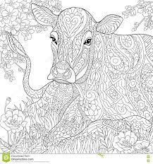 Zentangle Stylized Cow Stock Vector Image Of Adult 2021