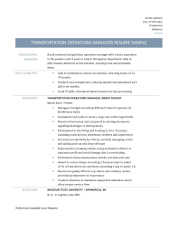 Transportation Operations Manager Resume Samples - Online ... 12 Operations Associate Job Description Proposal Resume Examples And Samples Free Logistics Manager Template Mplates 2019 Download Executive Services Professional Food Templates To Showcase Example Vice President For An Candidate Retail How Draft A Sample Restaurant Fresh Educational Director Of 13 Transportation