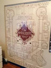 So My Friends Cousin Decided To Decorate Her Closet As The Marauders Map Cool Idea For Door Play Room