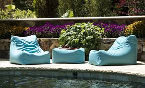 Patio Furniture With Hidden Ottoman by Leon Outdoor Bean Bag Ottoman Jaxx Patio Furniture Weather