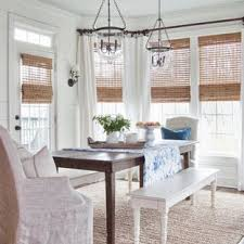 Inspiration For A Farmhouse Dark Wood Floor Dining Room Remodel In Atlanta With White Walls