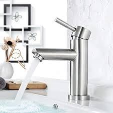 faulkatze wasserhahn bad edelstahl waschtischarmatur waschbecken armatur bad wasserhahn mischbatterie einhebelmischer waschbeckenarmatur matt