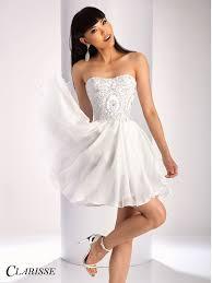 clarisse short formal dress 3215 short formal dresses white