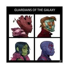 Guardians Of The Galaxy Gorillaz T Shirt