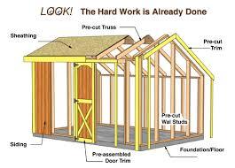 8x12 Storage Shed Kit by Best Barn Aspen 12x8 Wood Storage Shed