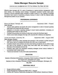 Sales Manager Resume Example Download