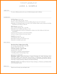 Sample Resume For No Experience Teacher Save Daycare Child Care Resumes