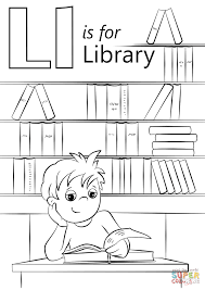 Click The Letter L Is For Library Coloring Pages