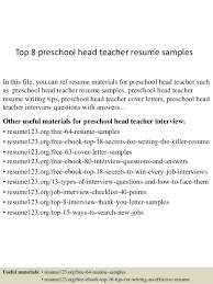 resume description of preschool top 8 preschool resume sles 1 638 jpg cb 1437641173