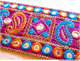 4 Hand Stitched Embroidery Designs And Mirror Work