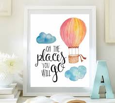 Nursery Wall Art 4 Welcome To Little Emmas Flowers Shop Oh The Places Youll Go Inspirational