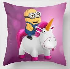 Despicable Me Minion Agnes Unicorn Throw Pillow