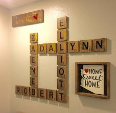 wooden letter tiles personalized name tiles large wood tiles