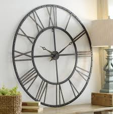 large wall clock as decorative element in your interior room